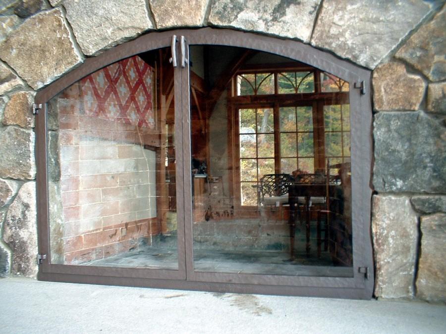 Various Styles Of Glass Door Fireplace Screens