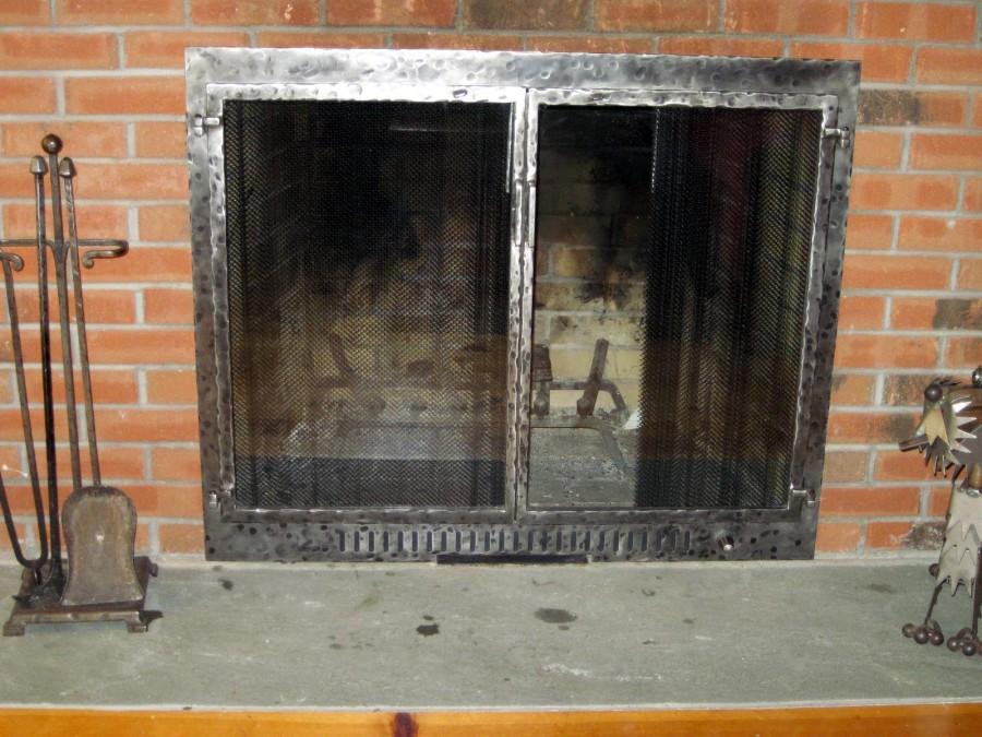 various styles of glass door fireplace screens rh graneymetaldesign com  custom glass door fireplace screens