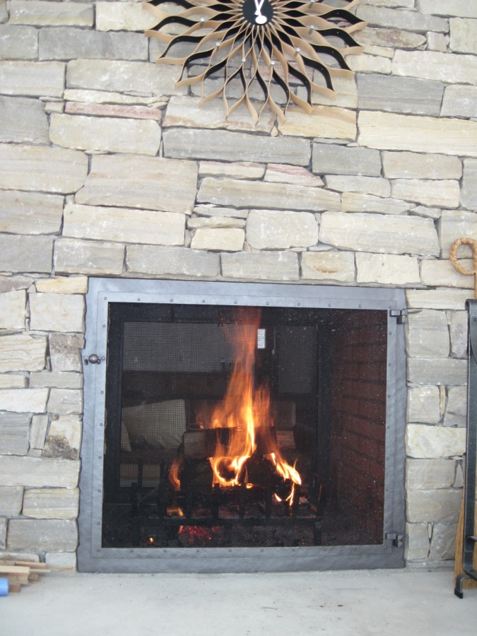 Double gas fireplace problems sided