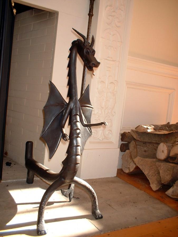 Custom Fabricated Andirons and Fireplace Tools