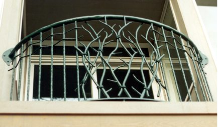 Wrought Iron Branch Balcony Rail