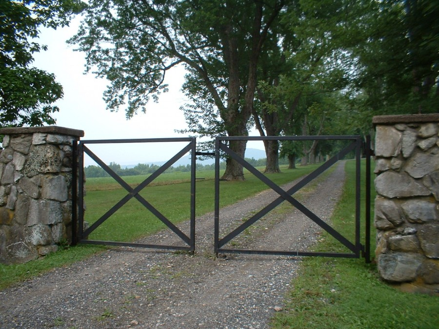 Custom iron forged driveway gate for Driveway gate plans