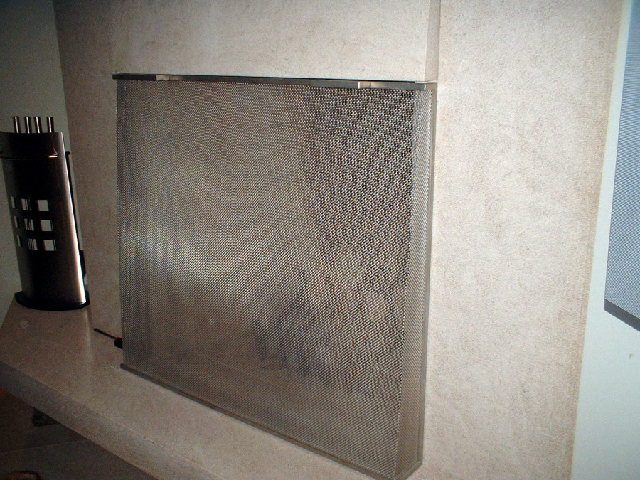 Flat Fire Place Screens