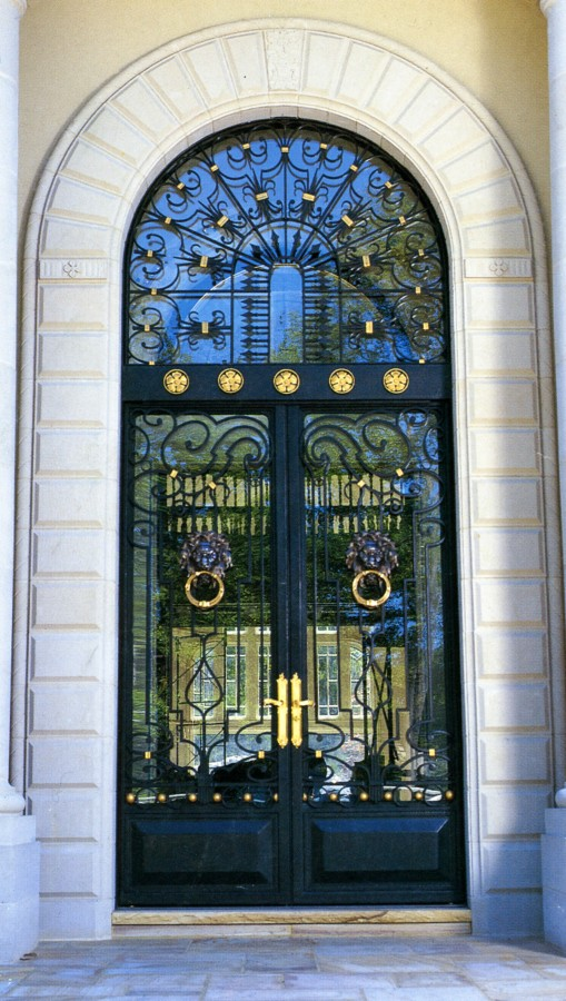 Custom Wrought Iron Door Grilles Ornamental Window Grates