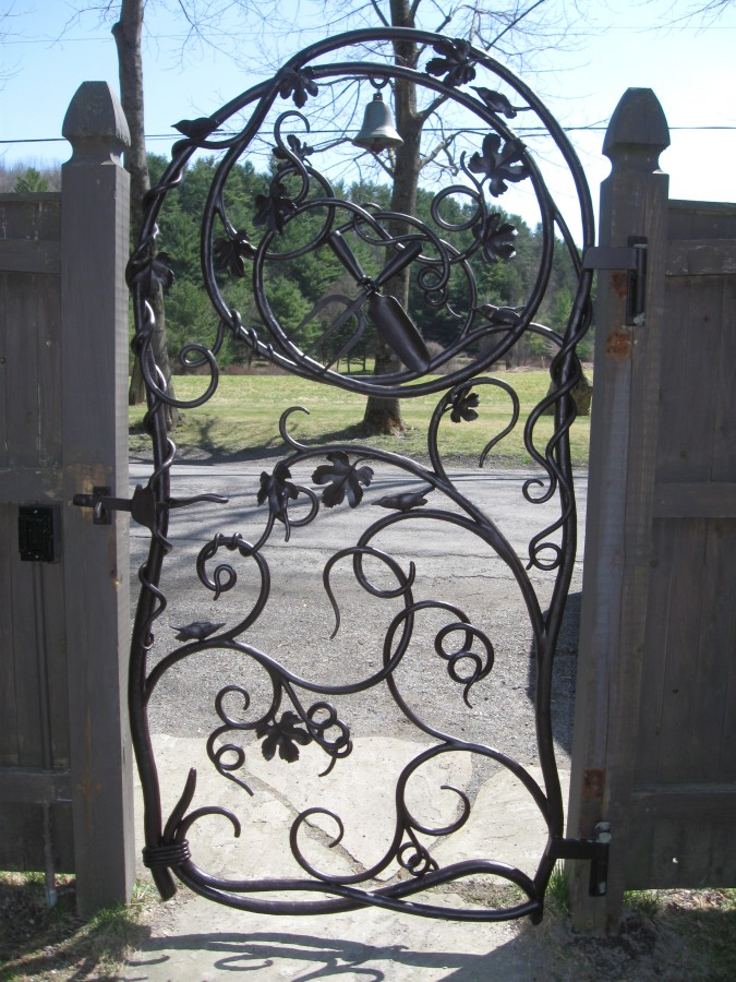 Ornamental Iron Walkway Gate