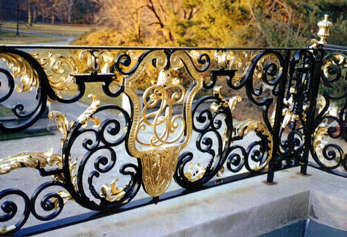 Restoration Of The Ornamental Iron Balcony At Old Westbury